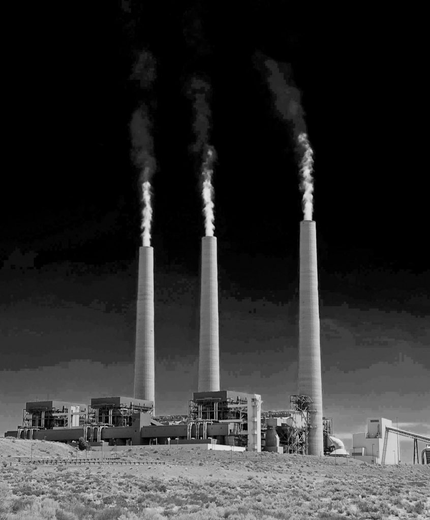 Navajo Coal Plant 062507-1 DSC_0046 processed tall BW