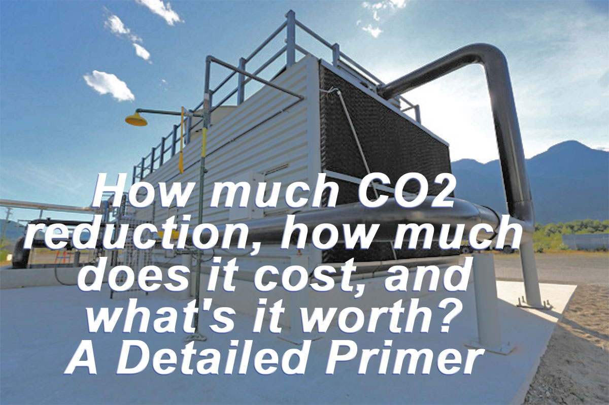 How Much Co2 Reduction Does It Cost And What S Worth A Detailed Primer